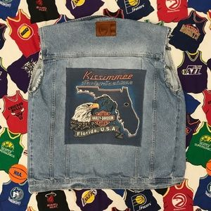 Harley Davidson x Phat Farm Denim Jean XL Vest
